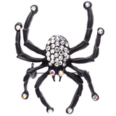 Spider Rhinestone Brooch