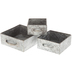 Galvanized Metal Square Box Set