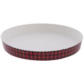 Red & Black Buffalo Check Pie Pans