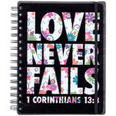 Love Never Fails Floral Journal