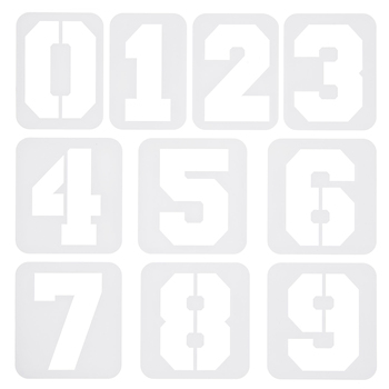 Varsity Number Adhesive Stencils