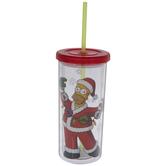 Homer Simpson Santa Cup