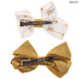 Gold Glitter Arrow Bow Hair Clips