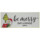Be Merry Not A Grinch Wood Decor