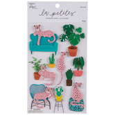 Leopards & Plants 3D Stickers