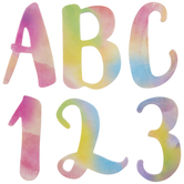 Rainbow Watercolor Chipboard Alphabet Stickers