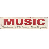 Music Is Not To Hear Metal Sign