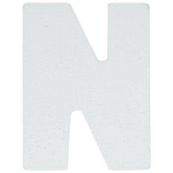"White Wood Letters N - 2"""