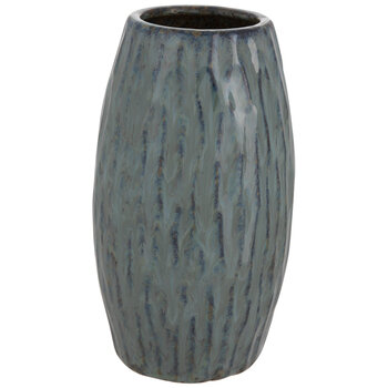 Green Swirl Ridged Vase