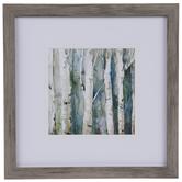 Watercolor Birch Trees Framed Wall Decor