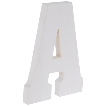 White Letter Wood Wall Decor