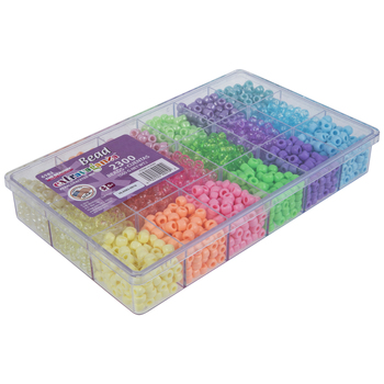 Pearlescent & Faceted Plastic Bead Box