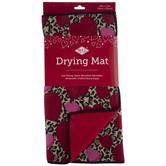 Leopard Print Hearts Drying Mat