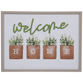 Welcome Home Plants Wood Wall Decor