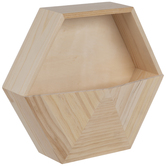 Hexagon Wood Container