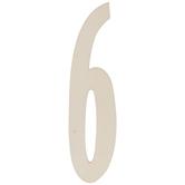 Vintage Sign Wood Numbers - 6