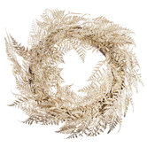 Gold Glittered Fern Leaf Wreath