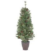 Potted Pre-Lit Christmas Tree - 4 1/2'