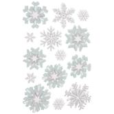 Snowflake Glitter 3D Stickers