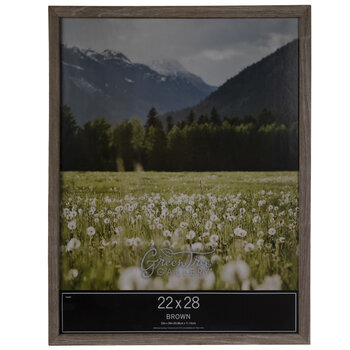 """Brown Rough Edge Wood Wall Frame - 22"""" x 28"""""""