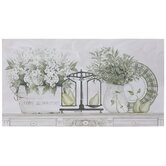 White Flowers & Pears Canvas Wall Decor