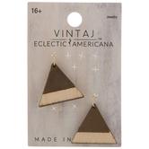 Wood Triangle Pendants