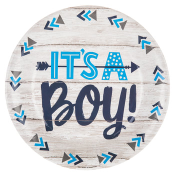 It's A Boy Paper Plates - Large