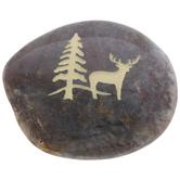 Reindeer & Tree Garden Stone