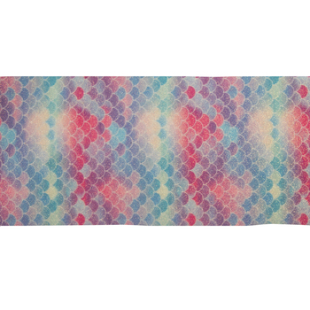 Glitter Mermaid Scales Faux Leather Ribbon