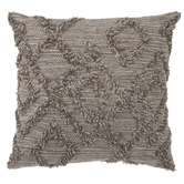 Beige Diamond Patterned Pillow