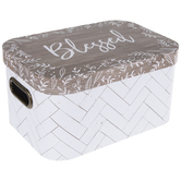Brown & White Blessed Rectangle Box