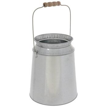 Round Galvanized Metal Container