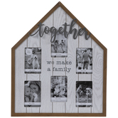 Together House Collage Wall Frame
