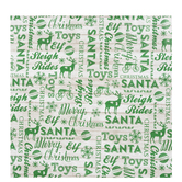 Green Words On White Wood Gift Wrap