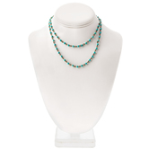 Imitation Turquoise Rosary Chain - 30""