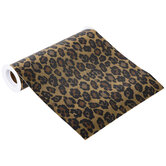 """Gold Leopard Print Faux Leather Wide Ribbon - 8"""""""