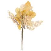 Gold Eucalyptus & Maple Leaf Pick