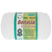 White Bonnie Braided Macrame Craft Cord - 6mm