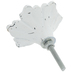 Distressed White Flower Metal Knob
