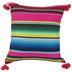 Multi-Color Striped Pom Pom Pillow Cover