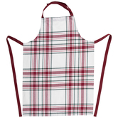 Red, Green & White Plaid Apron