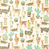Lovely Llamas Duck Cloth Fabric