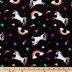 Unicorn Rainbow Velvet Fleece Fabric