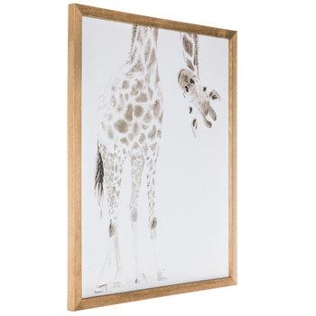 Giraffe Looking Upside Down Wood Wall Decor