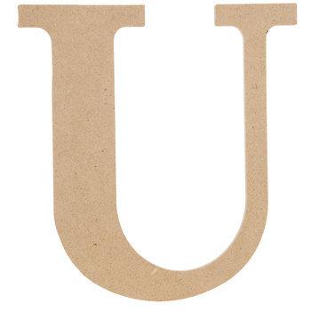 """Wood Letter U - 9 1/2"""""""