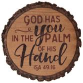 Isaiah 49:16 Round Wood Magnet