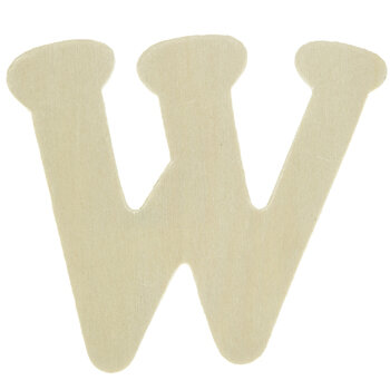 """Wood Letters W - 4"""""""