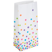 Mini White Confetti Dots Paper Sacks