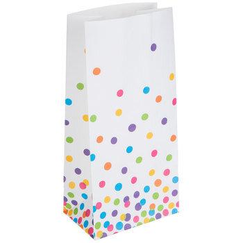Mini White Confetti Dots Paper Sacks