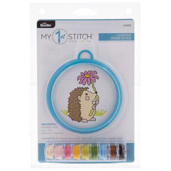 Hedgehog Mini Counted Cross Stitch Kit